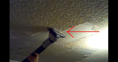 popcorn ceiling removal vacuum he was sick of his popcorn ceilings and discovered a clean
