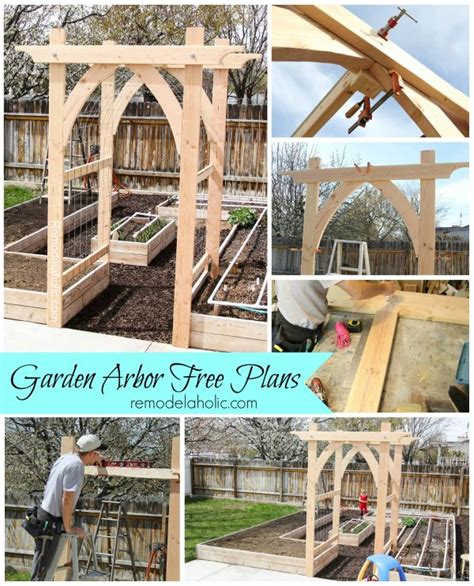 Wedding Arch Blueprint by Vegetable Garden Arbor Diy Plans