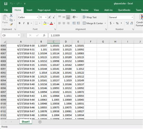 tutorial excel workbook tutorial 112 transfer price data from a price series