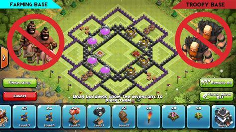 layout coc th9 anti giant amazing base th9 defense hog rider giant dragon baloon