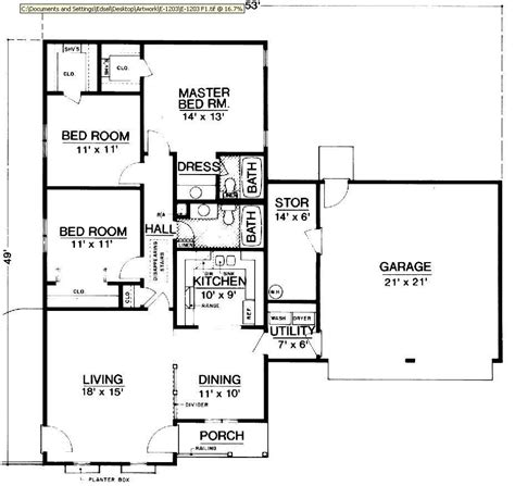 design floor plans for free hyde park 1203 2846 3 bedrooms and 2 5 baths the house designers