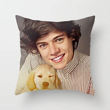 Harry Styles Pillow by Harry Styles One Direction Labrador From Society6