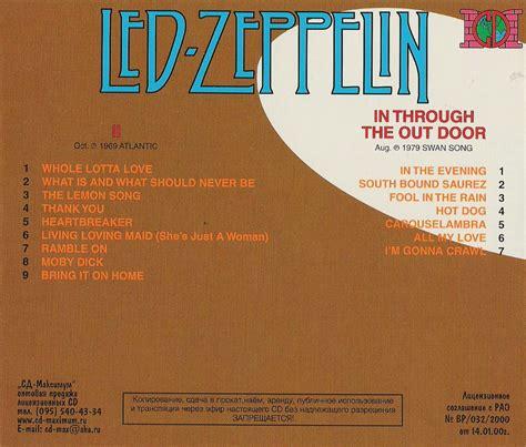 Cd Led Zeppelin led zeppelin cd led zeppelin ii in through the outdoor