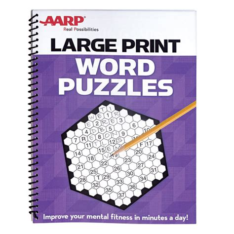 seniors puzzle book word fill in specially designed for adults volume 1 books aarp large print word puzzles word puzzles aarp puzzle