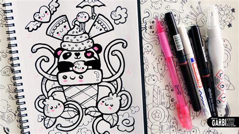 easy doodle drawings kawaii panda hello doodles easy drawings by