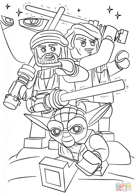 Lego Star Wars Clone Wars Coloring Page Free Printable Lego Wars Coloring Page