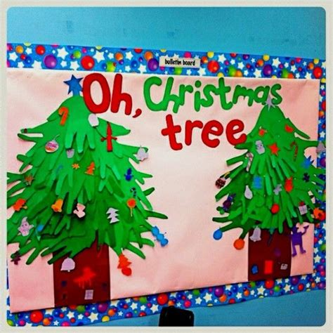 classroom bulletin board ideas oh christmas tree