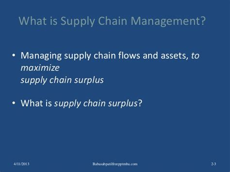Supply Chain Management Notes For Mba Ou by Supply Chain Management Ppt Mba