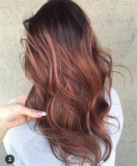 brunette rose gold hair rose gold brunette balayage my style pinterest