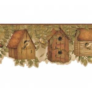country kitchen borders country kitchen birdhouse with brownish burgandy edge