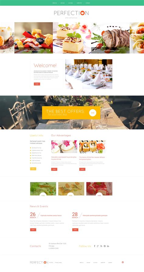 templates for catering website catering web template