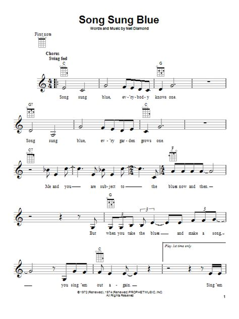 blue song chords song sung blue sheet direct