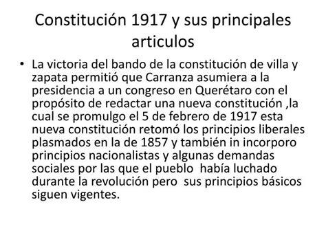 la constituci 243 n de 1917 y el ppt la constituci 243 n de 1917 y sus principales articulos powerpoint presentation id 5658130