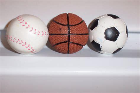 Baseball Door Knob by 3 Sports Basketball Soccer Baseball Door By