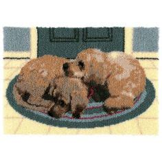 Elephant Rug Kit by Craftways 174 Quot Dots Quot Hound Latch Hook Kit Herrschners For
