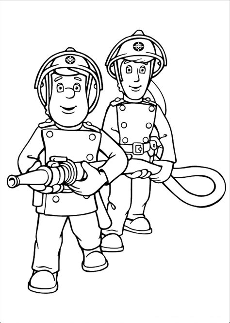 Pin Pages Fireman Sam 12 Free Printable Coloring Page On Sam Coloring Page