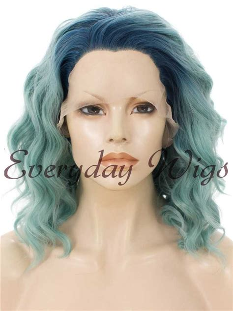 14 ombre wavy bob synthetic lace front wig edw034