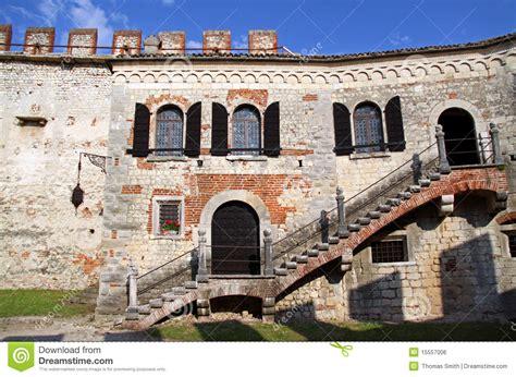 tenda castle scaligero castle on tenda hill editorial photo image