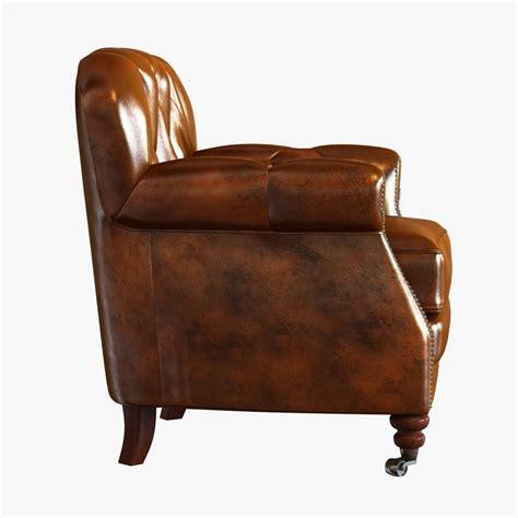 Noir Furniture noir furniture club chair vintage cigar leather 3d model