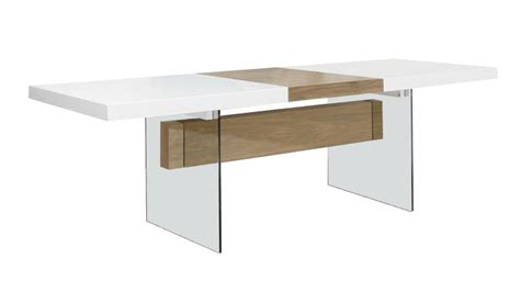 Table moderne avec rallonges Friendly blanc mat Mobilier Moss