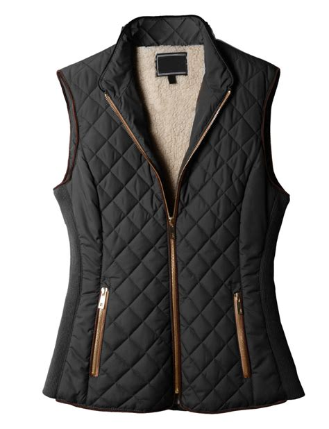 Quilted Vest Womens by Le3no Womens Lightweight Quilted Puffer Jacket Vest With