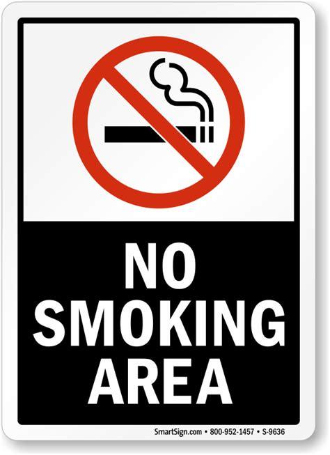 no smoking in this area sign nhe 25185 smoking area no smoking labels no smoking area sku s 9636