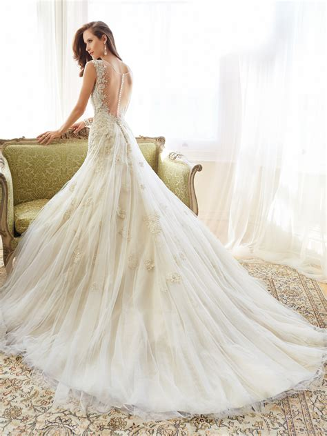 wedding dresses designer lace and tulle wedding dress