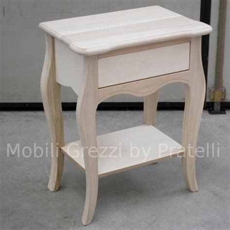 comodini in legno grezzo comodini grezzi
