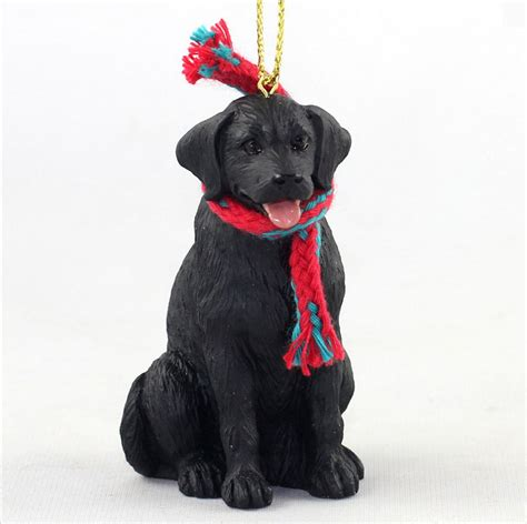 black labrador dog christmas ornament scarf figurine ebay