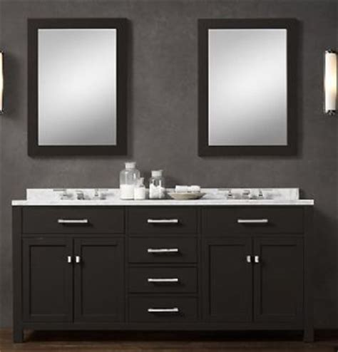 blk02 72 wooden bathroom vanity cabinet in black color