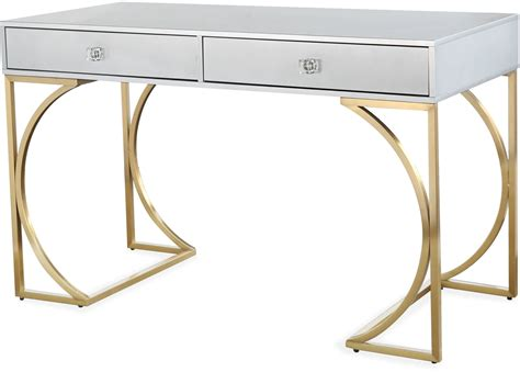 grey and gold desk lexie gray and gold desk from tov coleman furniture