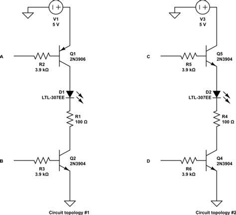 pnp or npn transistor bjt using an npn vs a pnp transistor electrical engineering stack exchange