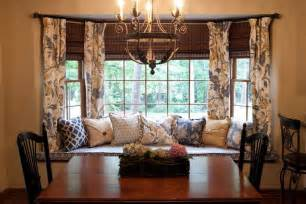 Dining Room Drapery Ideas How To Solve The Curtain Problem When You Have Bay Windows