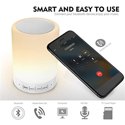 elecstars led touch bedside l elecstars touch bedside l with bluetooth speaker