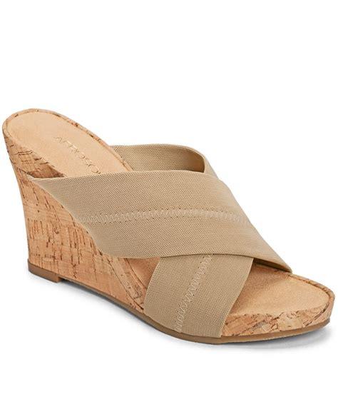 aerosoles wedge sandals aerosoles plush platform wedge sandals in brown lyst