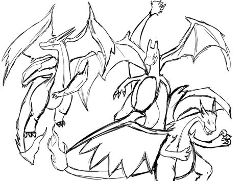 pokemon x and y mega evolutions free colouring pages