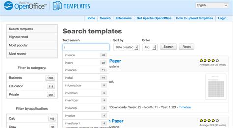 apache openoffice templates new site sourceforge