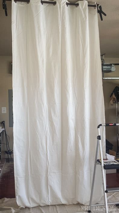 wrinkles out of curtains diy black white striped curtains
