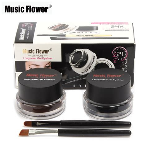 Mascara Dan Eyeliner Revlon 2 In 1 sale flower makeup brown black gel eyeliner make up waterproof smudge proof
