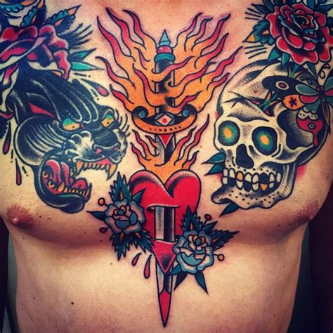 american traditional chest tattoo 286 best tattoos images on
