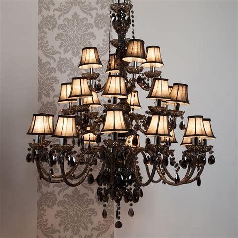 suspension filaire 3400 lustre baroque 24 branches en acrylique et tissu romeo de