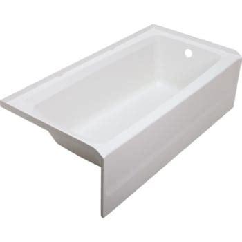 veritek bathtub swan veritek fiberglass bathtub left hand drain hd supply