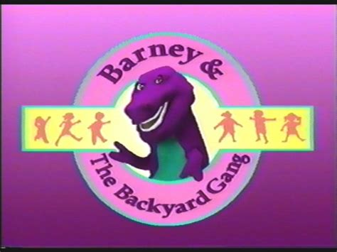 barney and the backyard gang previews image backyard gang title png barney wiki