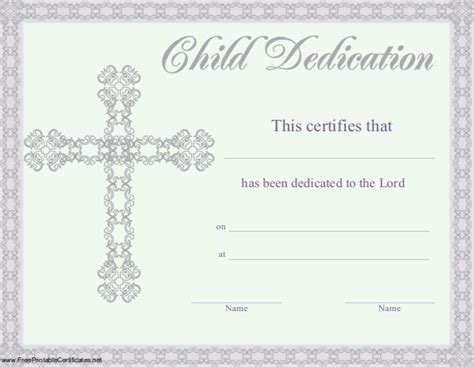 baby dedication certificates templates baby dedication certificate templates 20 free word pdf