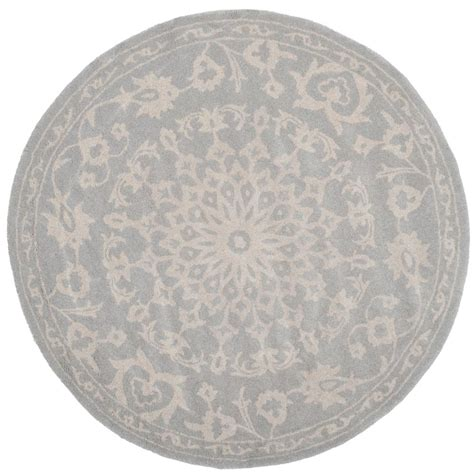 Silver Gray Area Rugs Safavieh Gray Silver 7 Ft X 7 Ft Area Rug Bel446a 7r The Home Depot
