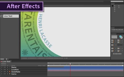 how to use live text templates from after effects in