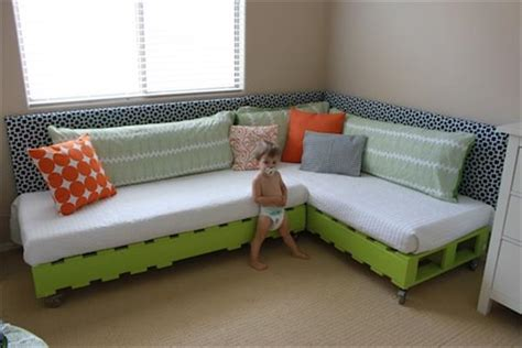 sofa bed for baby nursery top 30 diy pallet corner sofa ideas pallets designs