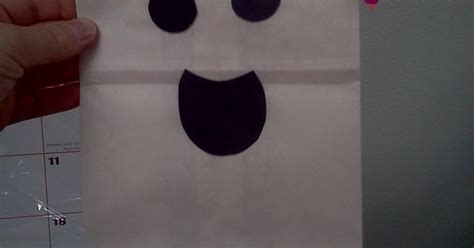 Paper Bag Ghost Craft - ghost paper bag puppets
