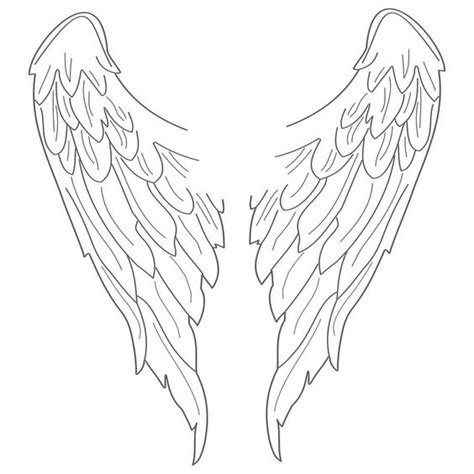coloring pages of angels with wings angel wings wall sticker coloring wing tattoos and search