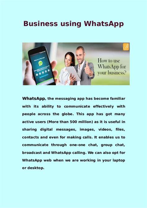 tutorial whatsapp ppt business using whatsapp